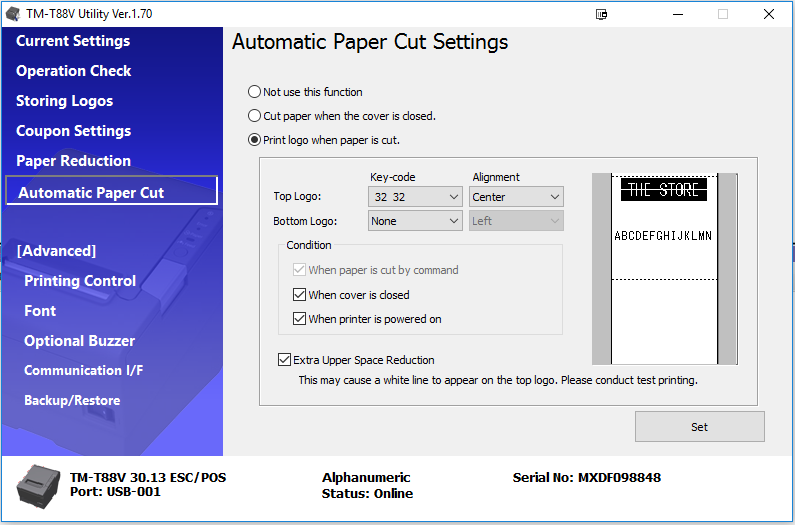 Printing your logo with the Epson TM-T88V – Help Center